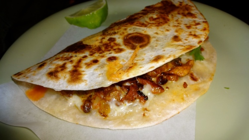 Adobada (Marinated Pork) Quesadilla.