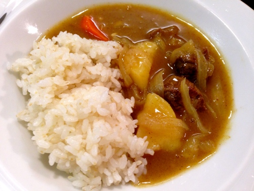 Japanese Curry with Rice.