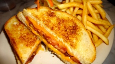 Grilled Cheese with Bacon and Tomato.