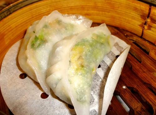 Snow Pea Shoot Dumplings (8/10).