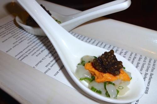 Hokkaido Scallop Tartare with Uni, Caviar, and Chive (8.5/10).