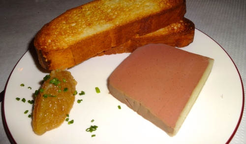 Chicken Liver Terrine with Apple Compote and Brioche (8.5/10).