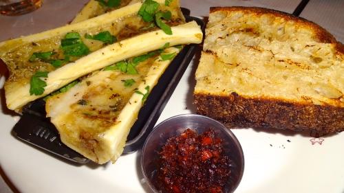 Bone Marrow with Bacon Marmalade and Country Bread (7/10).
