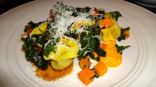 Short Rib Sacchetti with Butternut Squash, Tuscan Kale, and Ricotta Salata (8.5/10).