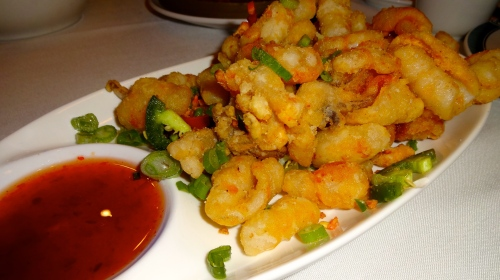 Salt and Pepper Calamari with Sweet and Sour Sauce (7/10).