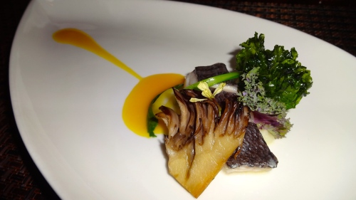 Medai: Japanese Wild Butterfish with Maitake Mushroom and Fried Kale (7/10).