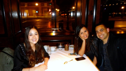 Dinner with Gianni and Helen!