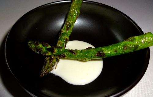 Amuse Bouche: First of the Season Asparagus with Celery Root Yogurt (8.5/10).