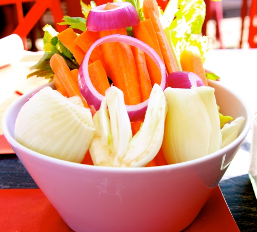 Pinzimonio: Raw Garden Vegetables to Dip in Olive Oil.