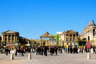 Entrance of Versailles Palace.
