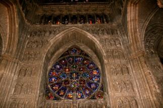 Inside Notre-Dame de Reims.