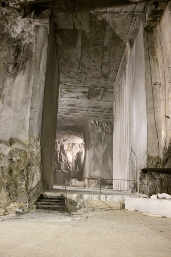 Inside the Marble Quarry.