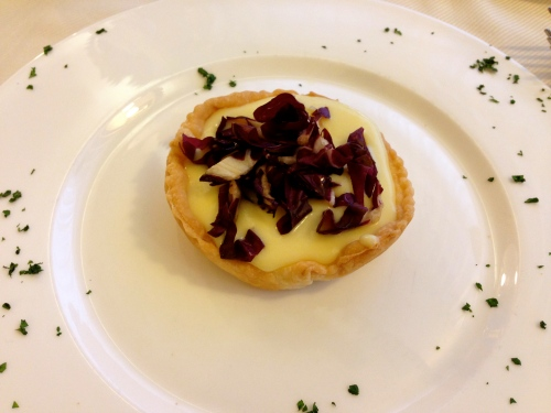 Taleggio Cheese and Radicchio Tart.