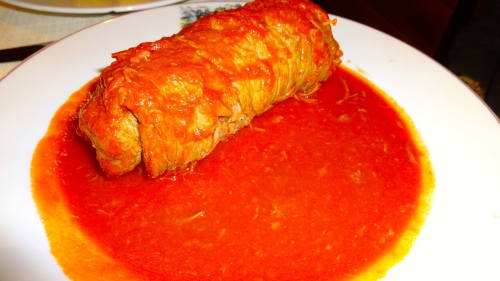 Involtino al Sugo: Beef Roll with Tomato Sauce (8/10).