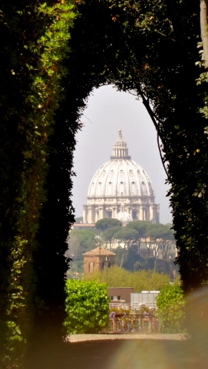 St. Peters Through the Aventine Keyhole.