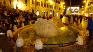 Fountain at the Spanish Steps.