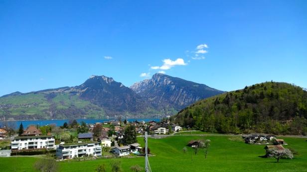 Lake Thunersee in Switzerland.