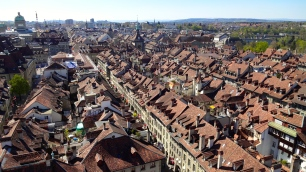 View of the Old Town from the Cathedral Tower.