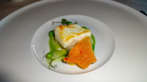Turbot with Crab Royale, Peas, and Mint (8.5/10).