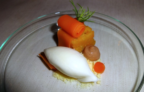 Carrot Cake Inspired Post Dessert with Crème Fraîche Ice Cream (8/10).