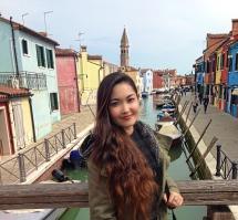 Enjoying Burano.