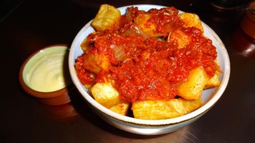 Patatas Bravas: Tomato, Pimentón, and Aioli (7/10).