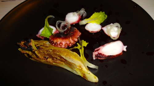 Octopus with Grilled Romaine (6/10).