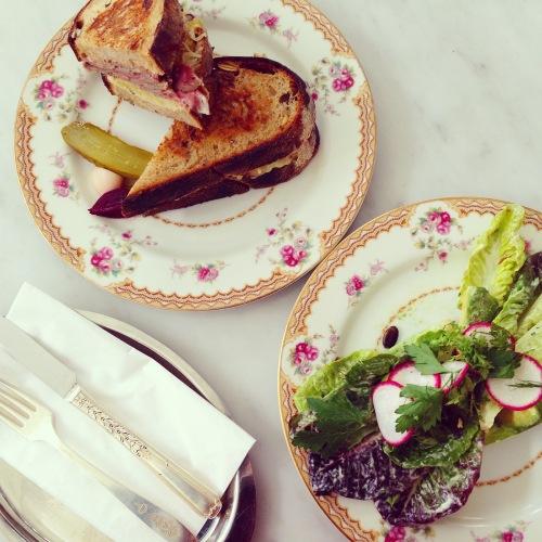 Reuben Sandwich (8.5-9/10) and Little Gem Lettuce Salad (8/10).