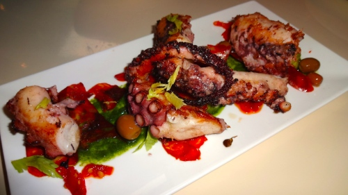 Octopus with Potatoes, Celery Hearts, Salsa Verde, Arbequina Olives, and Chorizo (8/10).