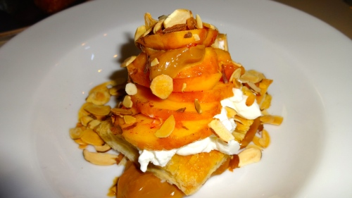 Summer Peach Puff Pastry with Dulce de Leche, Yogurt, and Almonds (5/10).