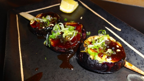 Eggplant Skewers with Miso (8.5/10).