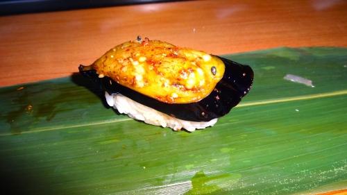 Nasu/Eggplant Nigiri (8/10).