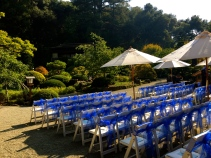 Ceremony at Hakone Estate and Gardens.