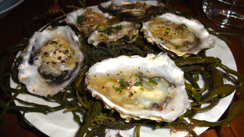 Grassy Bar Oysters with Candied Fennel Mignonette and Grains of Paradise (9.5/10).
