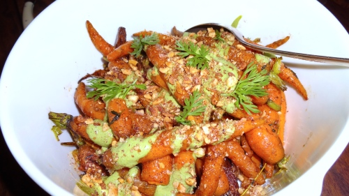 Roasted Carrots with Sumac and Yogurt (8/10).