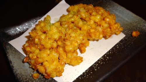 Corn Tempura with Green Tea Salt (8/10).