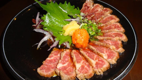 Wagyu Beef Tataki with Ponzu (8/10).