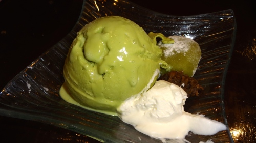 Green Tea Ice Cream with Warabi Mochi (8/10).