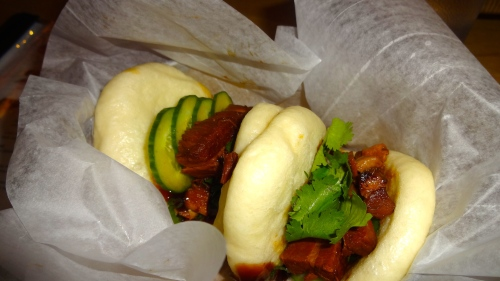 Pork Belly Buns with Cucumber.