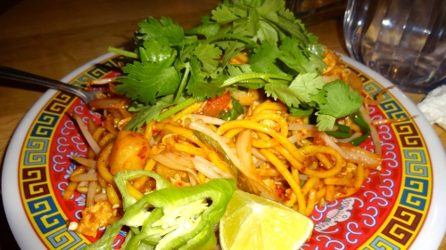 Noodles with Prawns and Herbs.