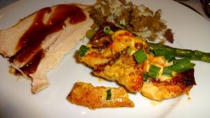 Turkey, Rice, and Catfish.