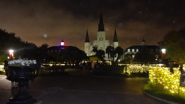 Jackson Square at Night.