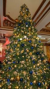 Christmas Tree at the Fairmont Hotel.