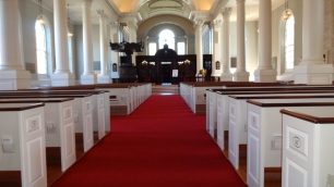 Inside Harvard Memorial Church.