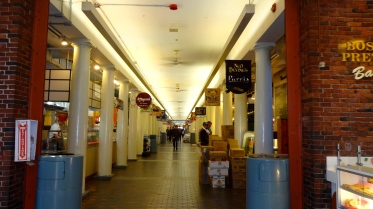 Inside Quincy Market.