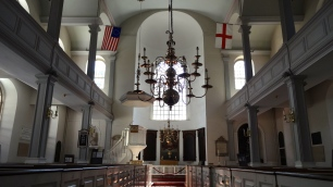 Inside Old North Church.