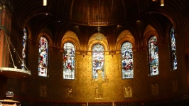 Inside Trinity Church.
