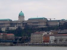 View of the Buda Castle.
