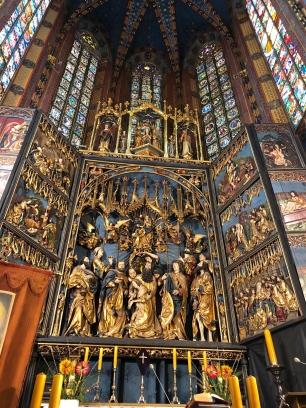 Inside St. Mary's Basilica.