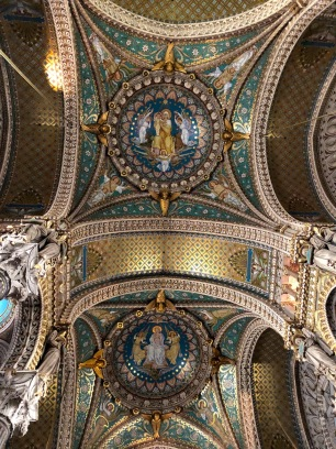 Inside Basilica of Notre-Dame de Fourvière.